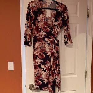 NWT Lularoe Michelle wrap dress size large floral